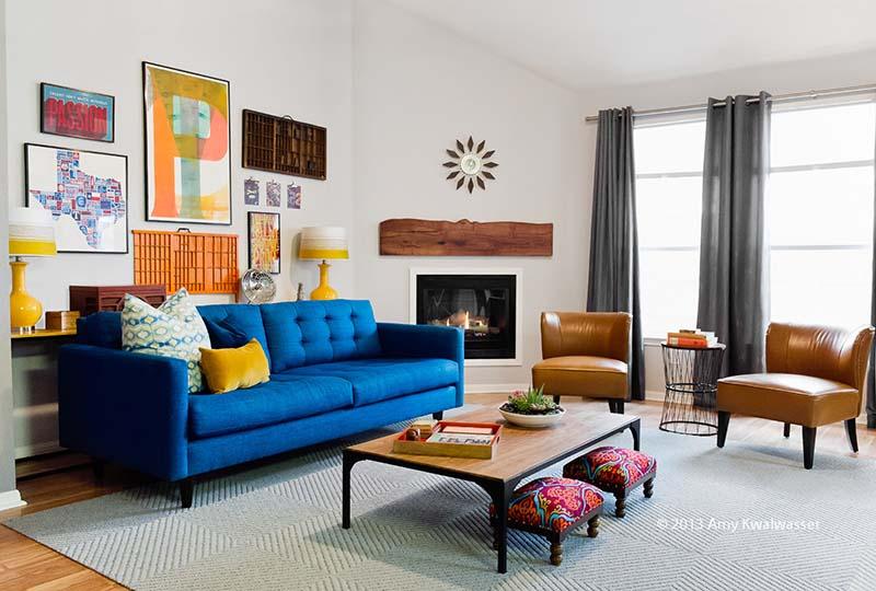 portfolio: eclectic living room - Noa Noa Design Solutions